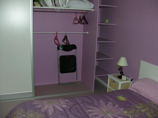 Le placard de la chambre